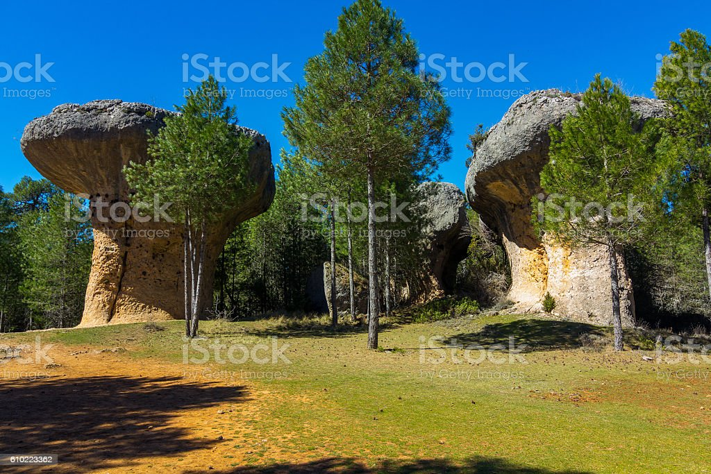 Rocks with capricious forms in the enchanted city stock photo