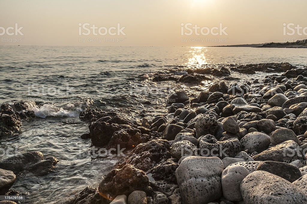 rocks with water stock photo