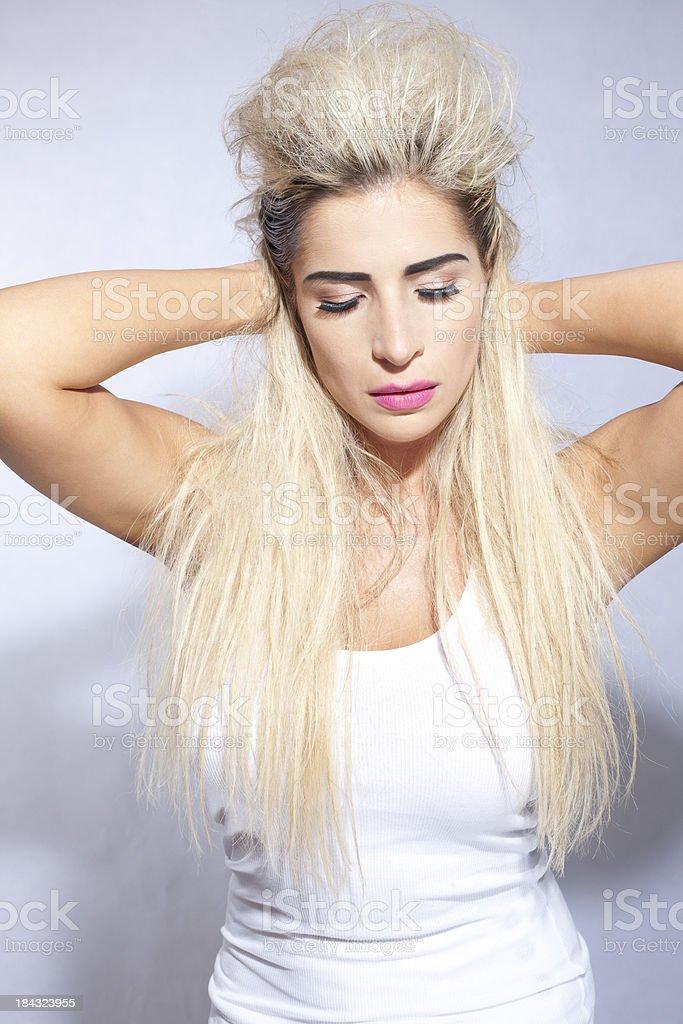 RockStar Blonde stock photo