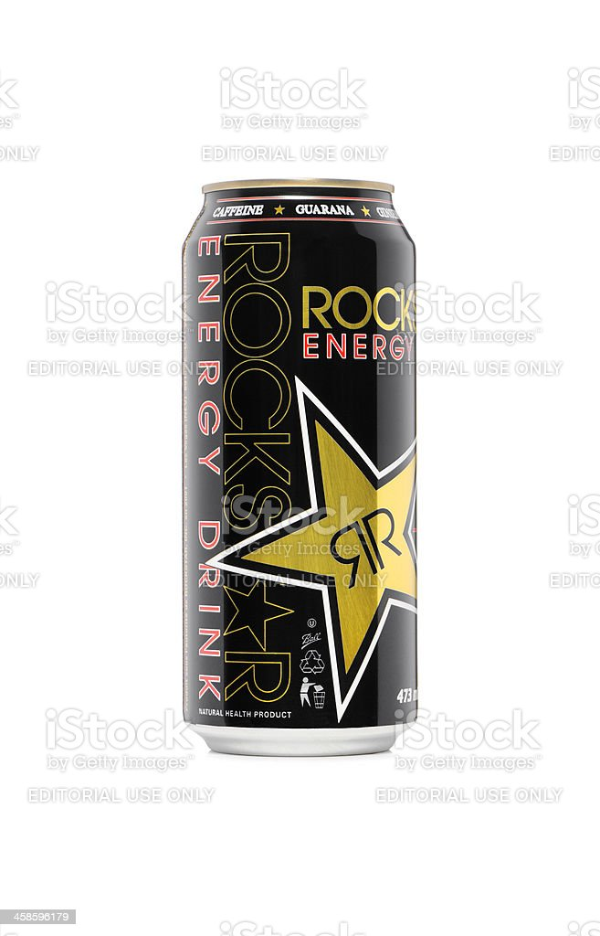 Rockstar energy drink royalty-free stock photo