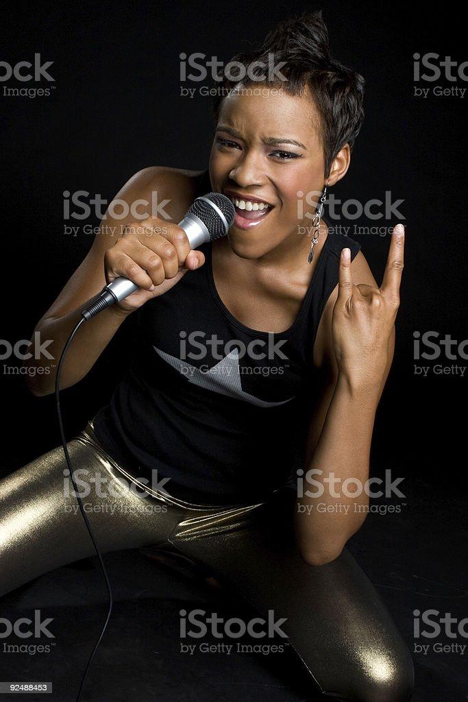 Rockstar Woman royalty-free stock photo