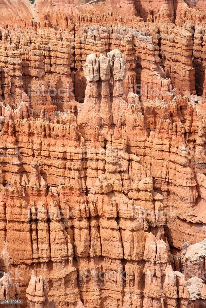 Rocky Amphitheater in Bryce Canyon royalty-free stock photo