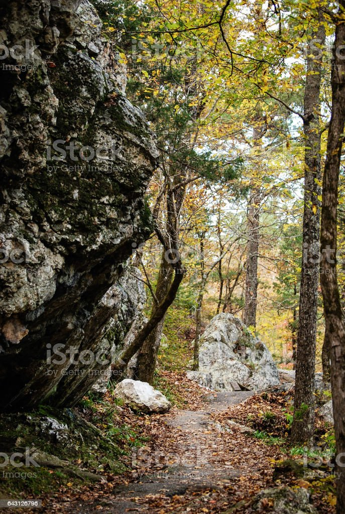 Rocky and Winding Path stock photo
