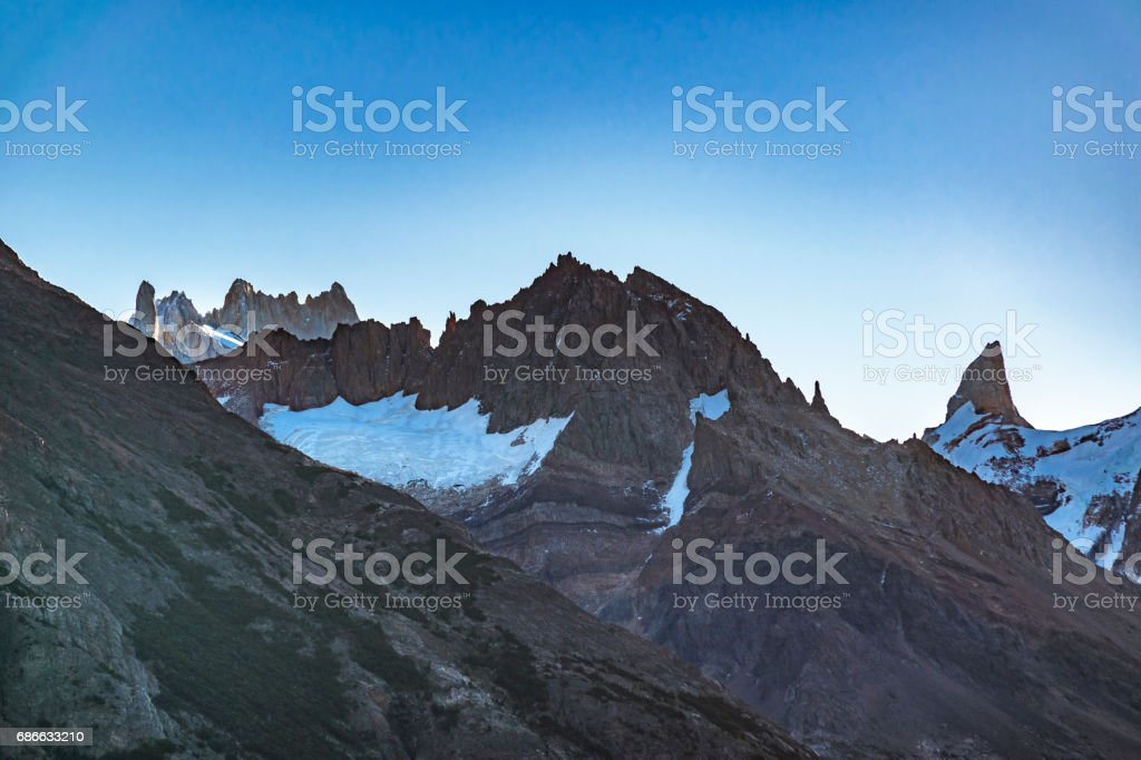Rocky Andes Mountains, Patagonia - Argentina royalty-free stock photo