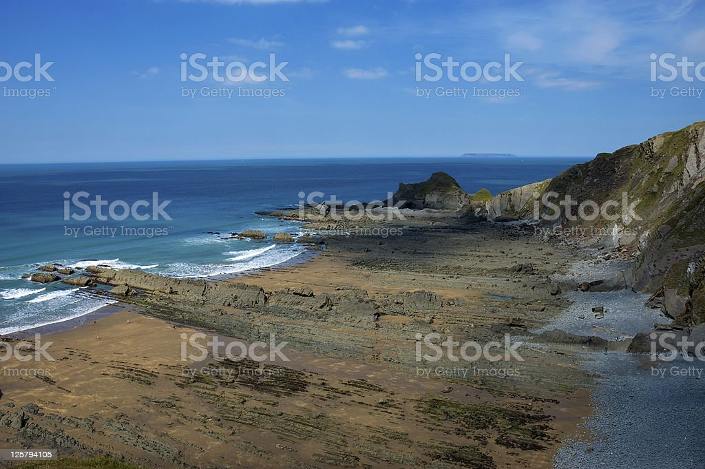 Rocky Beach and Cliffs stock photo