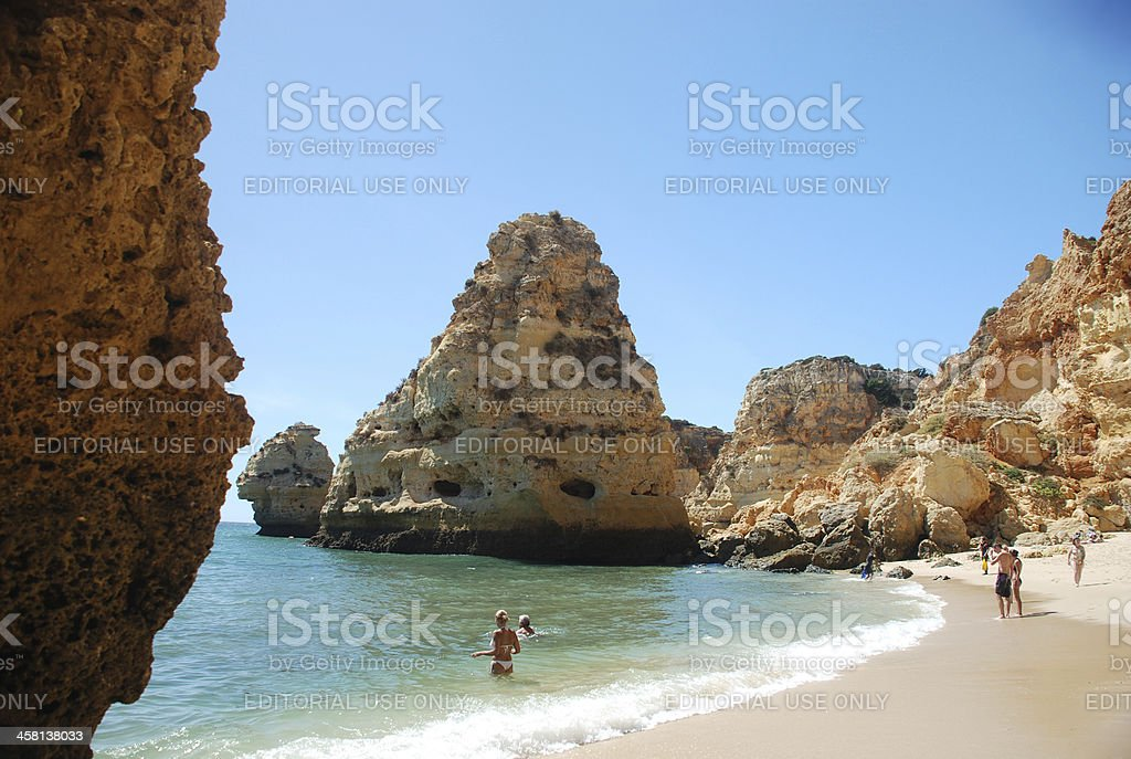 Rocky Beach at Algarve royalty-free stock photo