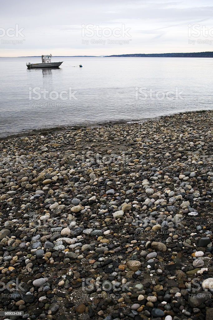 rocky beach royalty-free stock photo