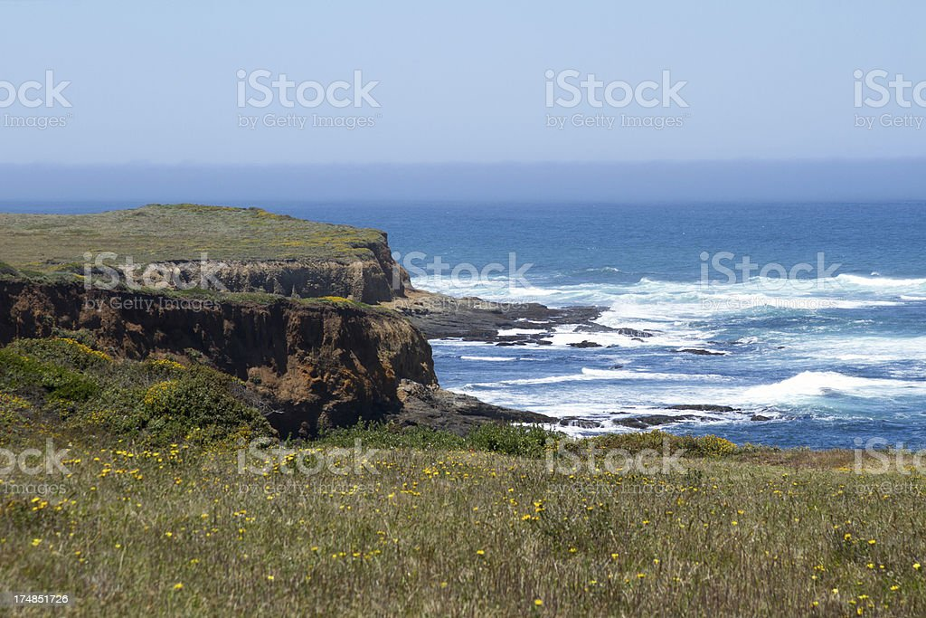 Rocky Cliff and Ocean royalty-free stock photo