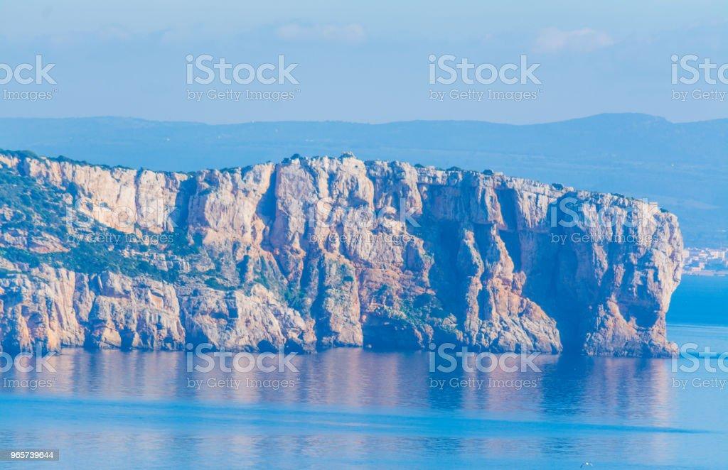 Rocky cliff in Capo Caccia - Royalty-free Alghero Stock Photo