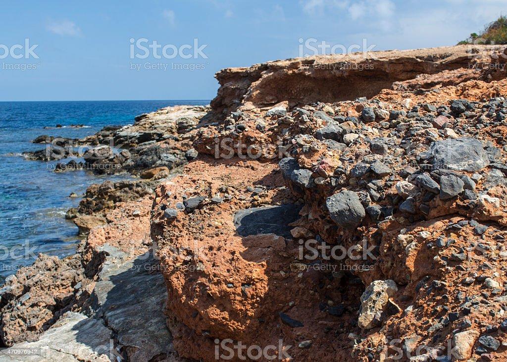 Rocky cliff stock photo