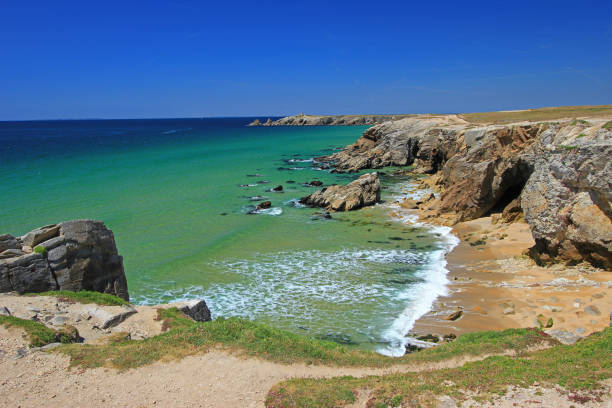 Rocky coast at the Atlantic Ocean, Brittany, France – Foto