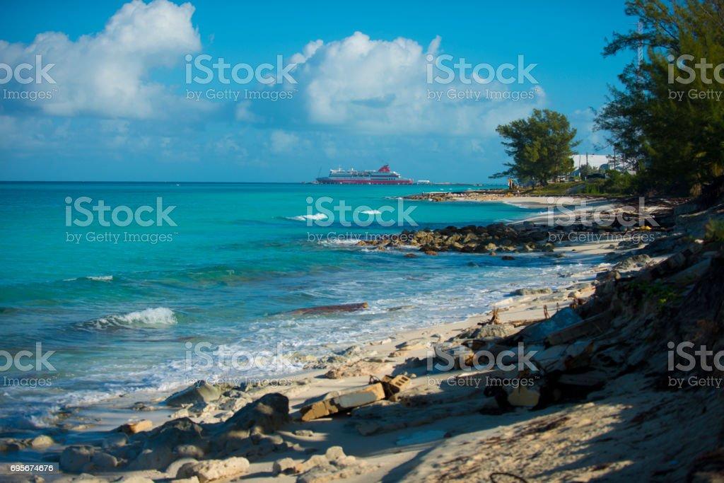rocky coast beach stock photo