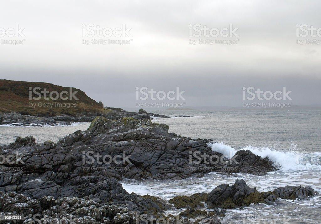 rocky coast in Scotland royalty-free stock photo