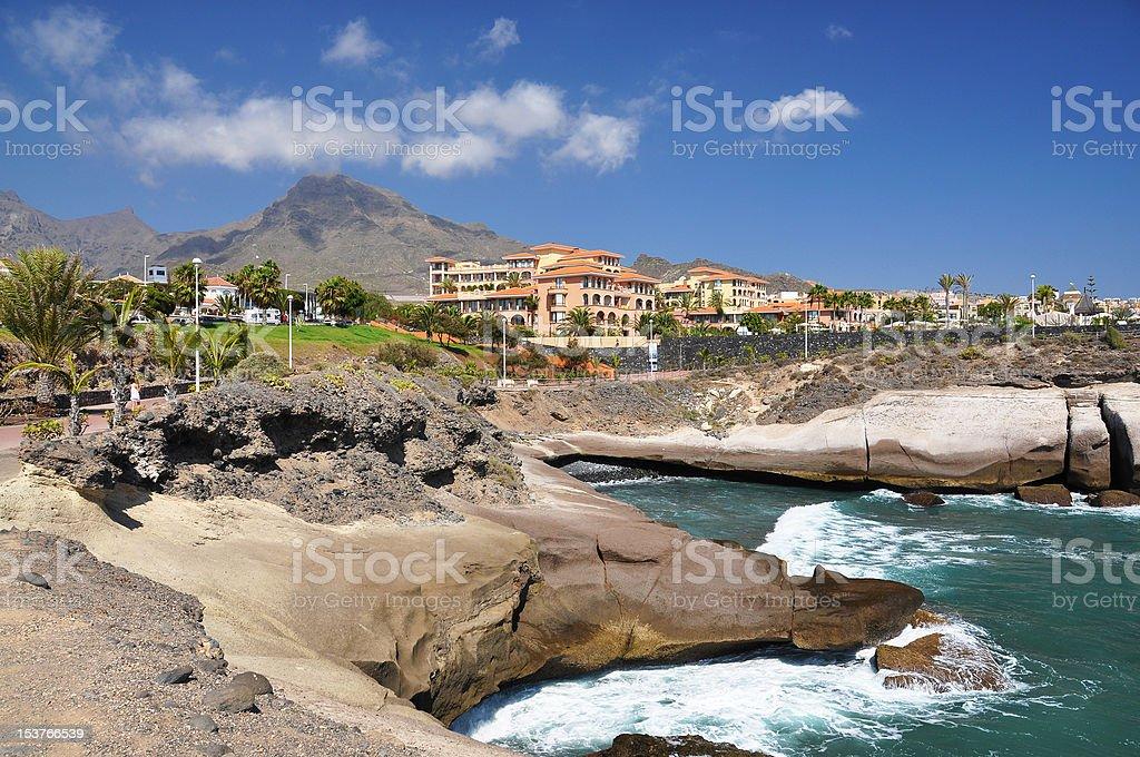 Rocky coast of Costa Adeje.Tenerife island, Canaries stock photo