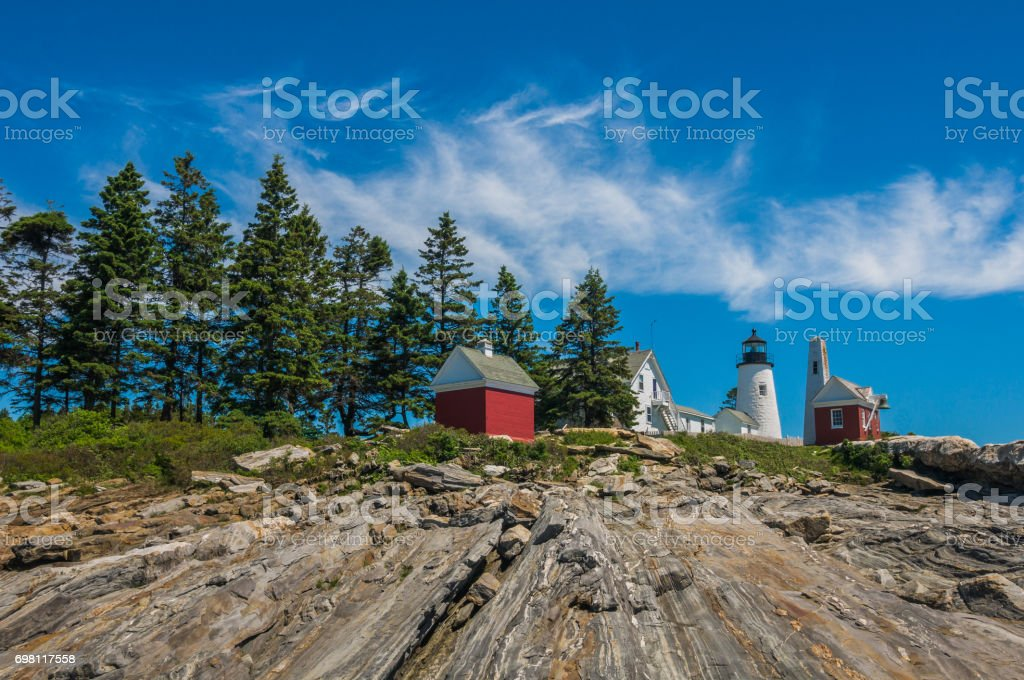 Rocky Coast Of Maine stock photo