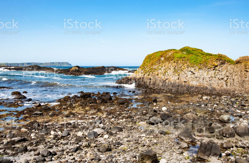 Rocky coast of Northern Ireland, UK stock photo
