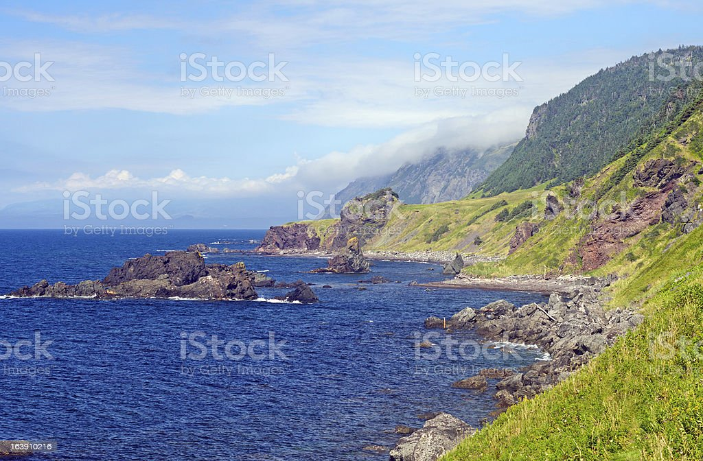 Rocky Coast on a Summer Day royalty-free stock photo