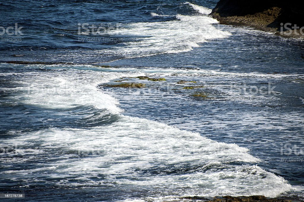 Rocky Coastline and Waves royalty-free stock photo