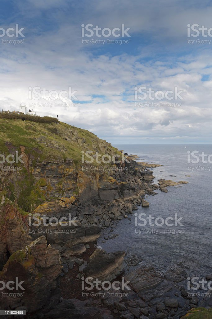 rocky coastline at Lizard Point in Cornwall royalty-free stock photo