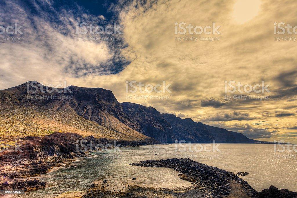 Rocky Coastline, Canary Island Seascape royalty-free stock photo