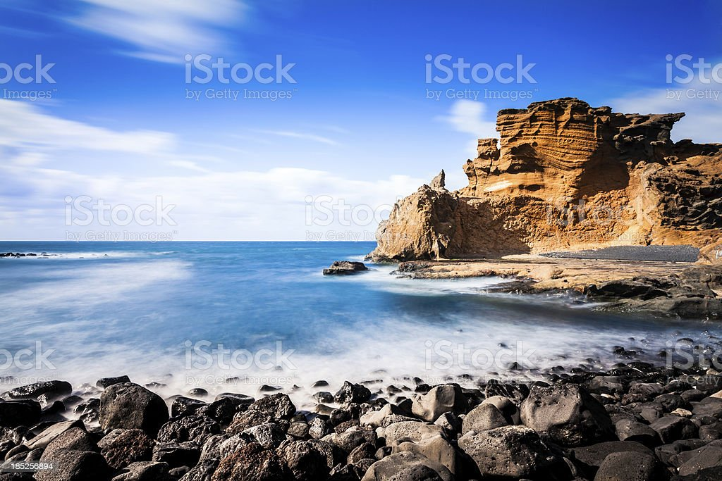 Rocky Coastline, Canary Island Seascape stock photo