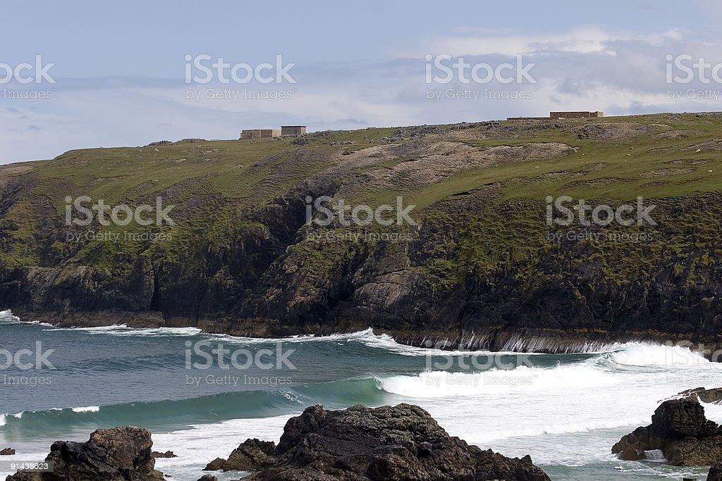 Rocky coastline in Durness (Scotland) stock photo