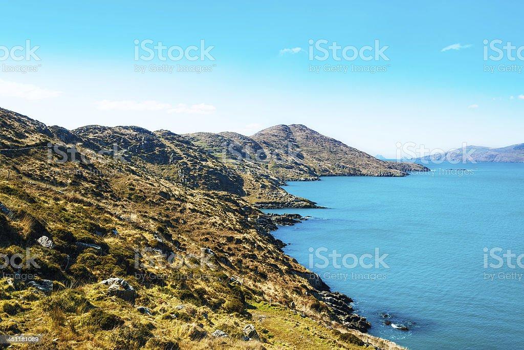 rocky coastline in Ireland royalty-free stock photo