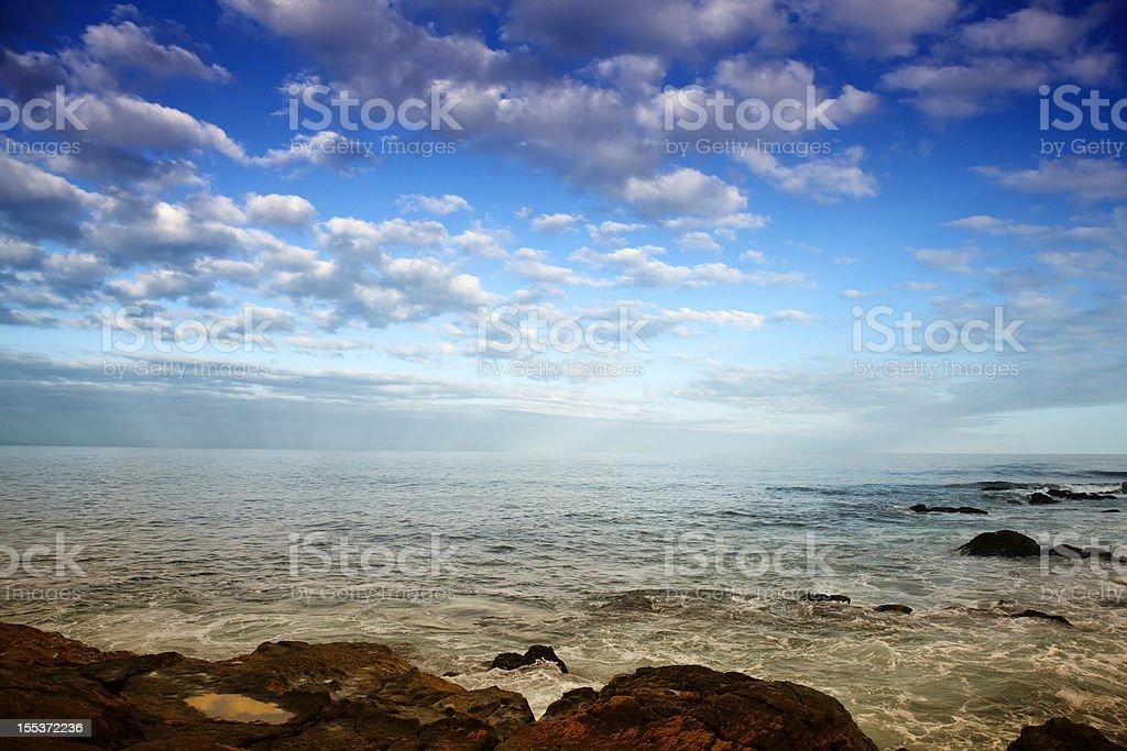 Rocky coastline seashore royalty-free stock photo