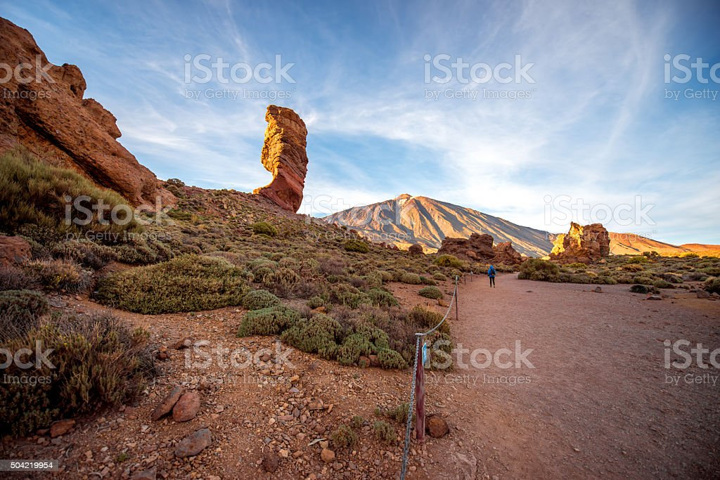Rocky desert landscape stock photo