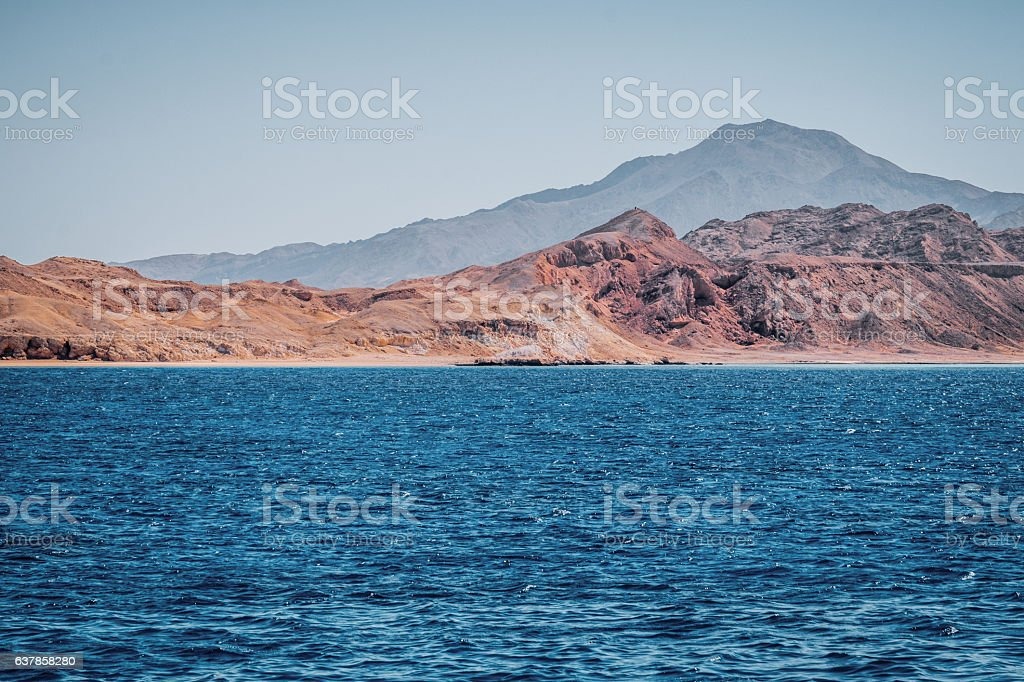 Rocky deserted land of Egypt stock photo