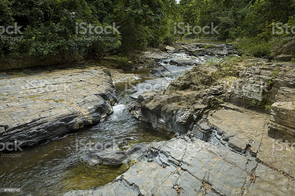 Rocky Forest Stream royalty-free stock photo