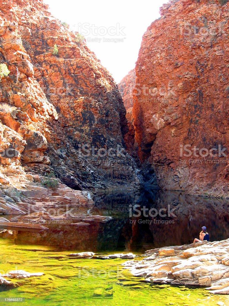 Rocky Gorge & Rock Pool stock photo