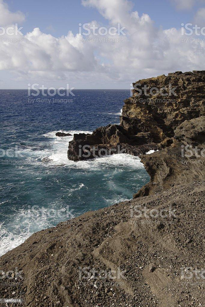 Rocky Hawaiian Coast royalty-free stock photo
