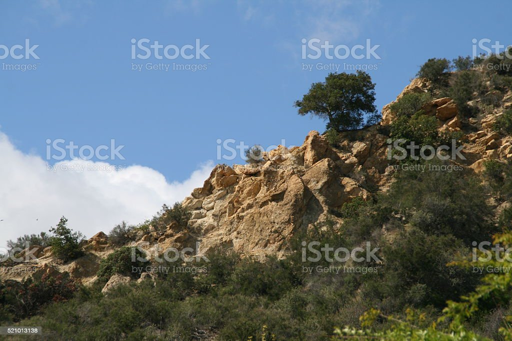 Rocky Hillside stock photo