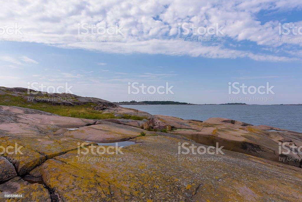 Rocky island royalty-free stock photo