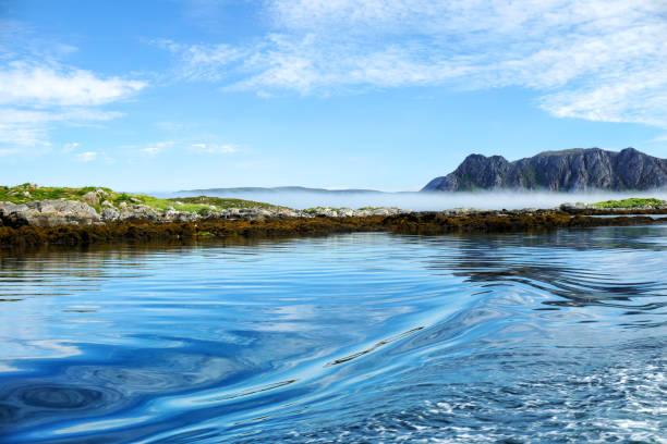 Ilhas rochosas da Noruega - foto de acervo