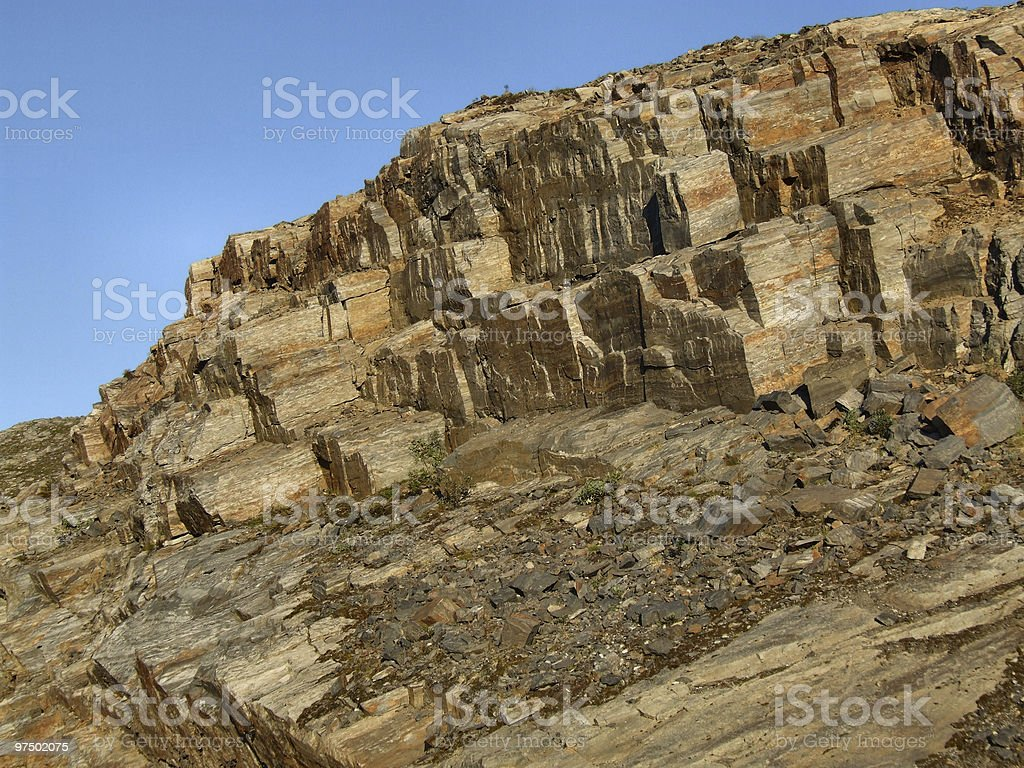 Rocky landscape - bare stone wall royalty-free stock photo
