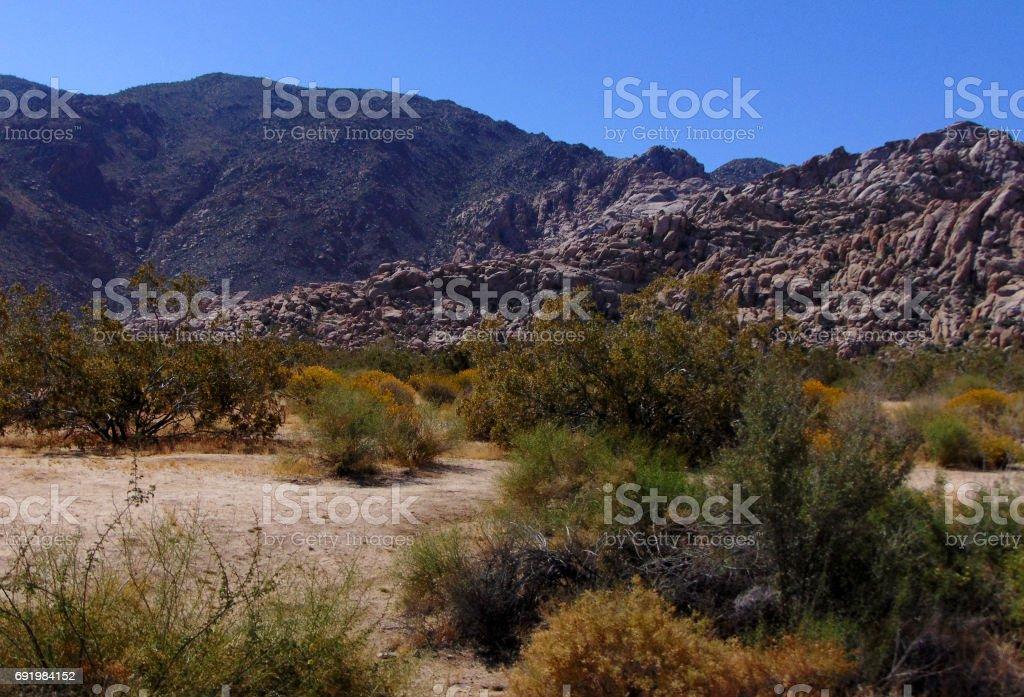A Rocky Landscape in the Desert stock photo