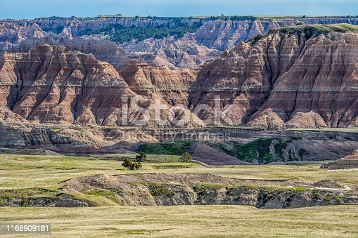 A layered rugged terrain rock formations of the preserve national park