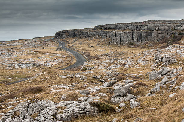 rocky landscape of the burren (ireland) - the burren stock pictures, royalty-free photos & images