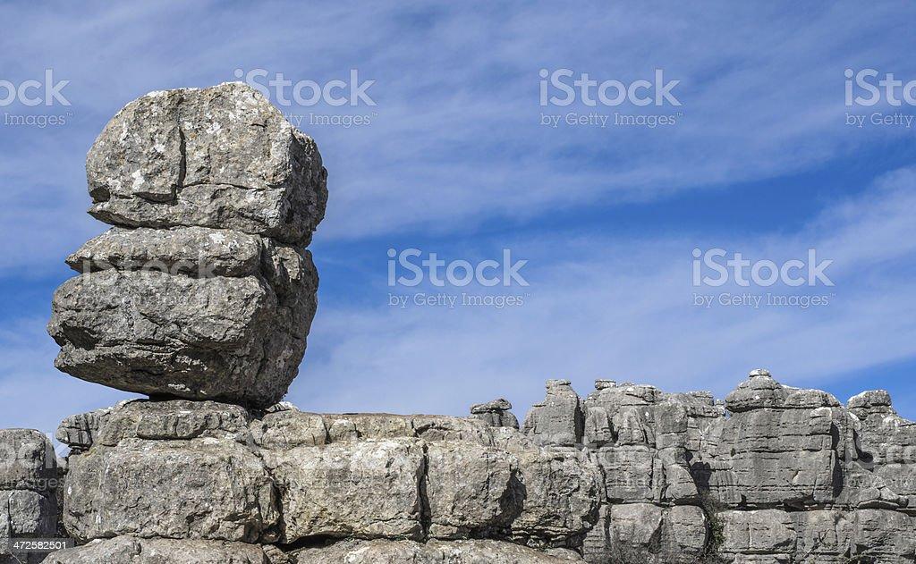 Rocky landscape stock photo