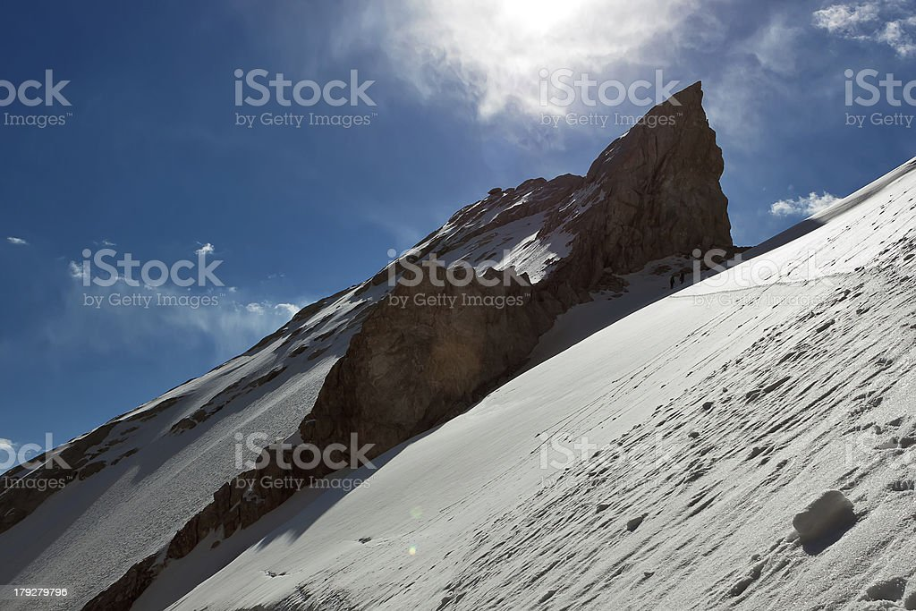 Rocky ledges stock photo