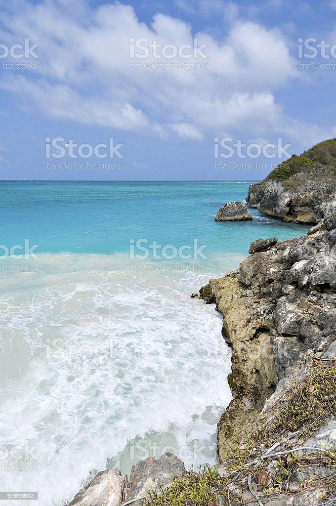 Rocky lonely beach royalty-free stock photo