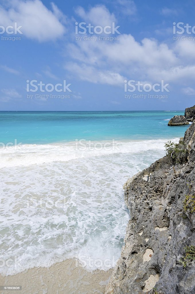 Rocky lonely beach royalty-free stock photo