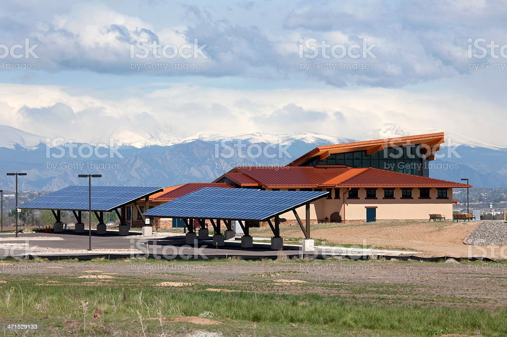 Rocky Mountain Arsenal National Wildlife Refuge Visitor Center Colorado stock photo