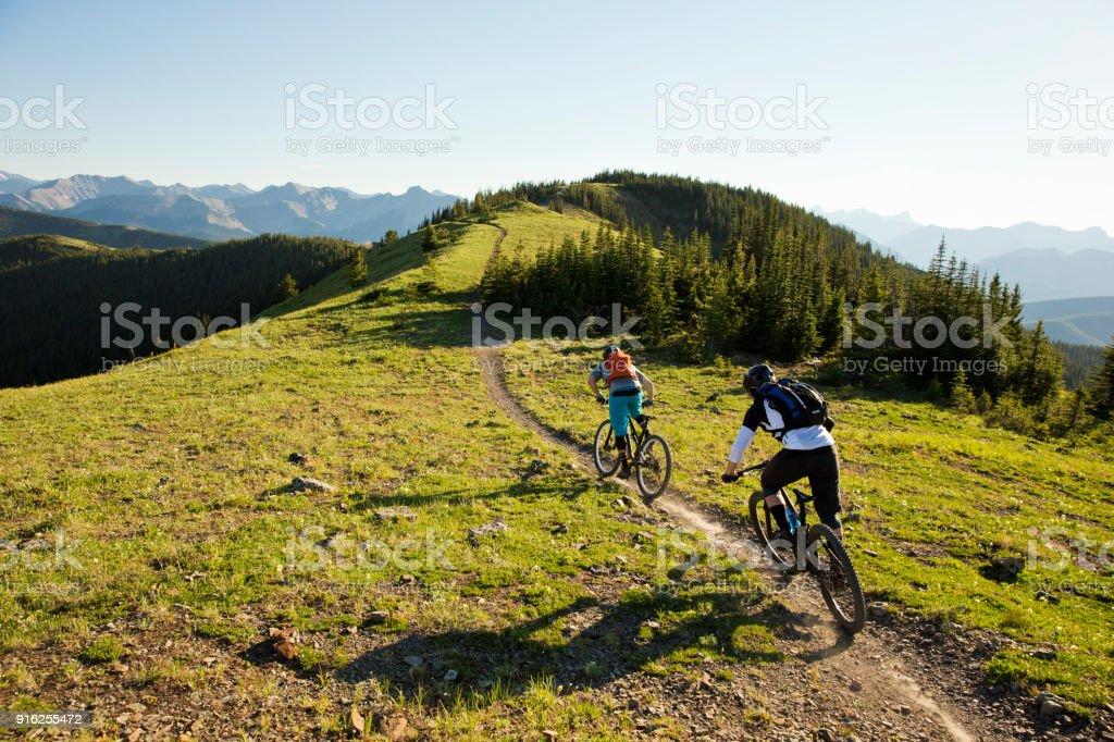 Rocky Mountain Bike Adventure stock photo
