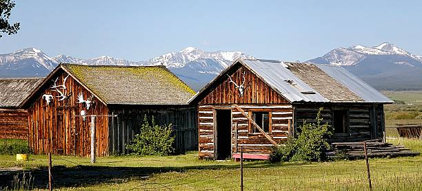 Rocky Mountain Cabins stock photo