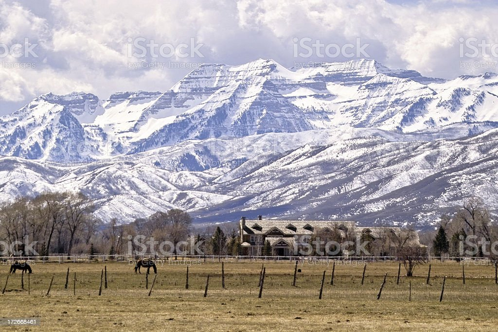 Rocky Mountain Home stock photo