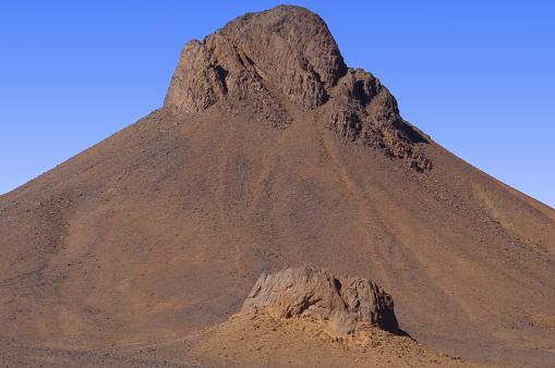 Hoggar rock formation in the Algeria