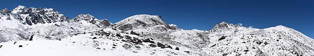 록키 산 풍경 덮힘, 인공눈, Himalaya 스톡 사진